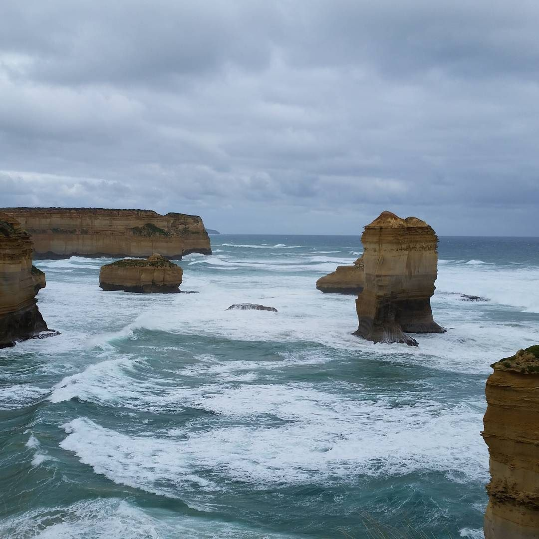 Seriously one of the most beautiful places on earth!  We luckily just escaped a rainstorm! #greatoceanroad by dmariebarr