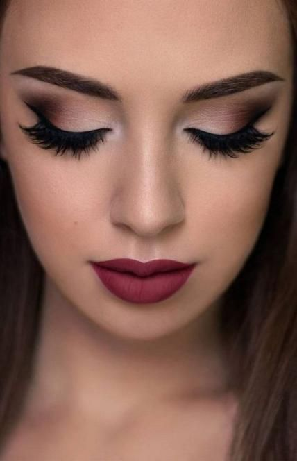 New wedding makeup for brown eyes red lips eyeshadows Ideas