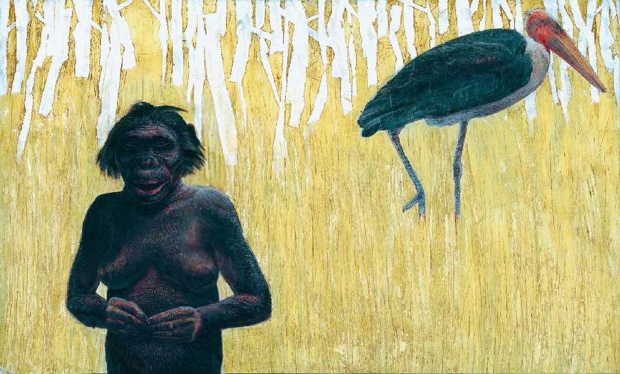 "Australopithecus afarensis - AL 288 - ""Lucy"" - reconstruction by Kennis & Kennis"