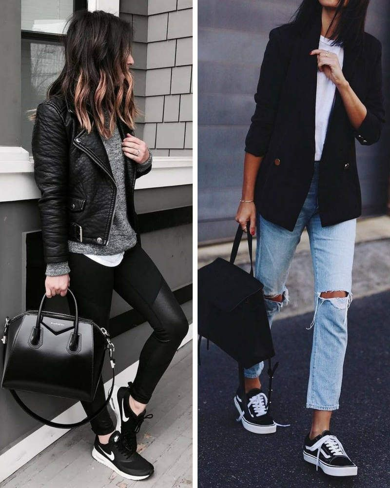 Ideas de cómo combinar unas zapatillas negras y cuáles son