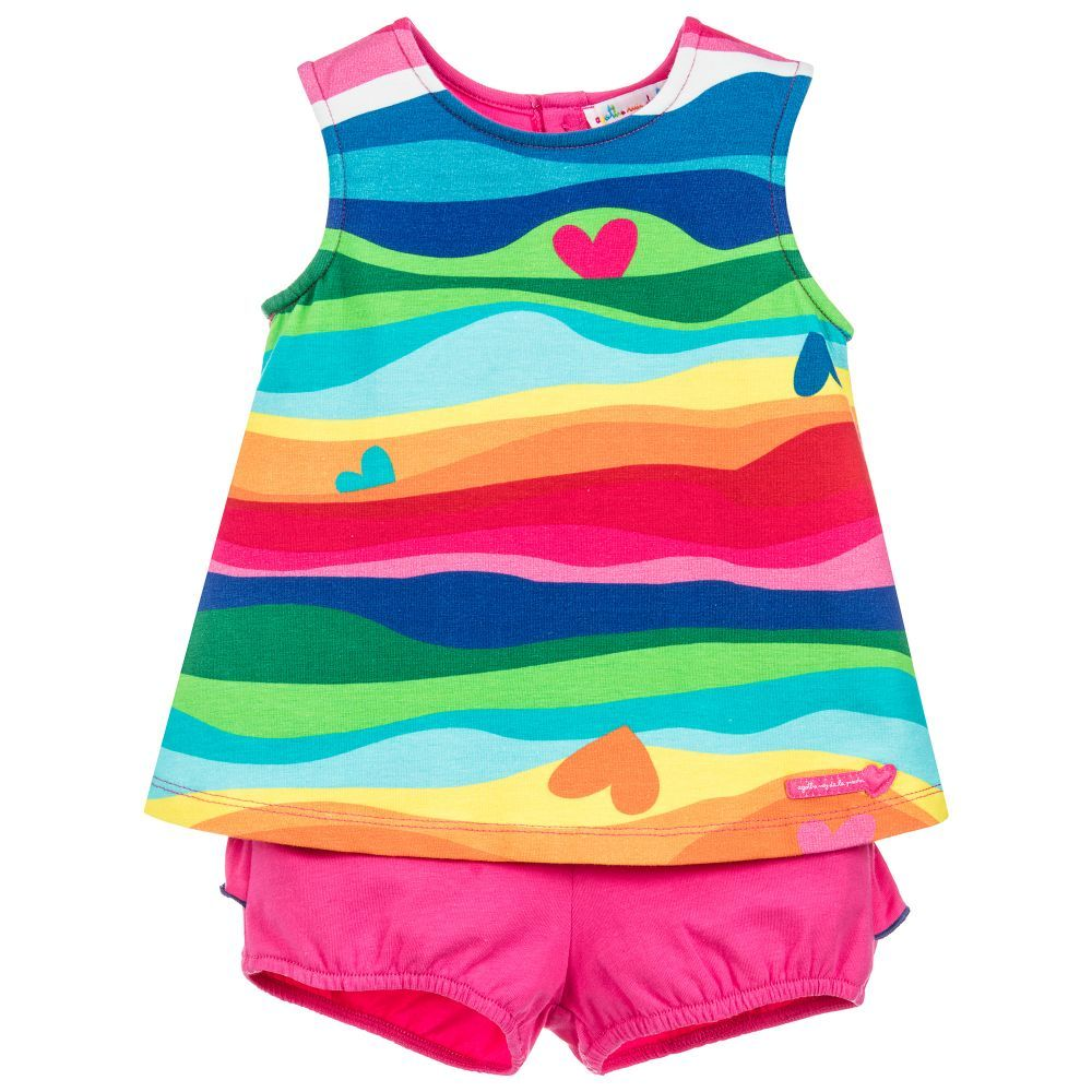 b7095a7bd An adorable and colourful rainbow stripe outfit for little girls by Agatha  Ruiz de la Prada. Made from soft and stretchy cotton jersey for comfort, ...