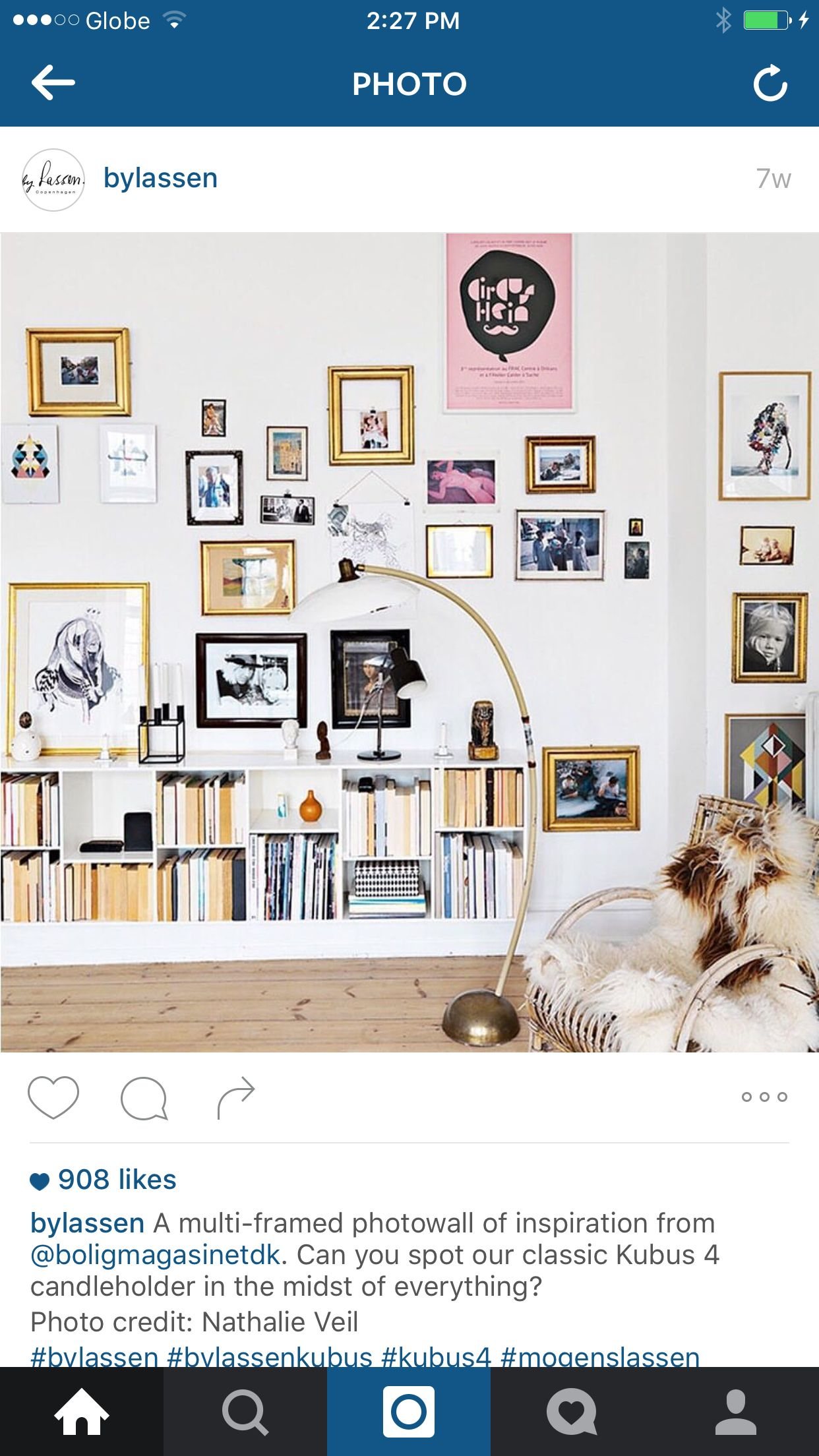 I like the disarray of these wall frames. Neatly executed! Photo by bylassen. #organizedchaos #clutter