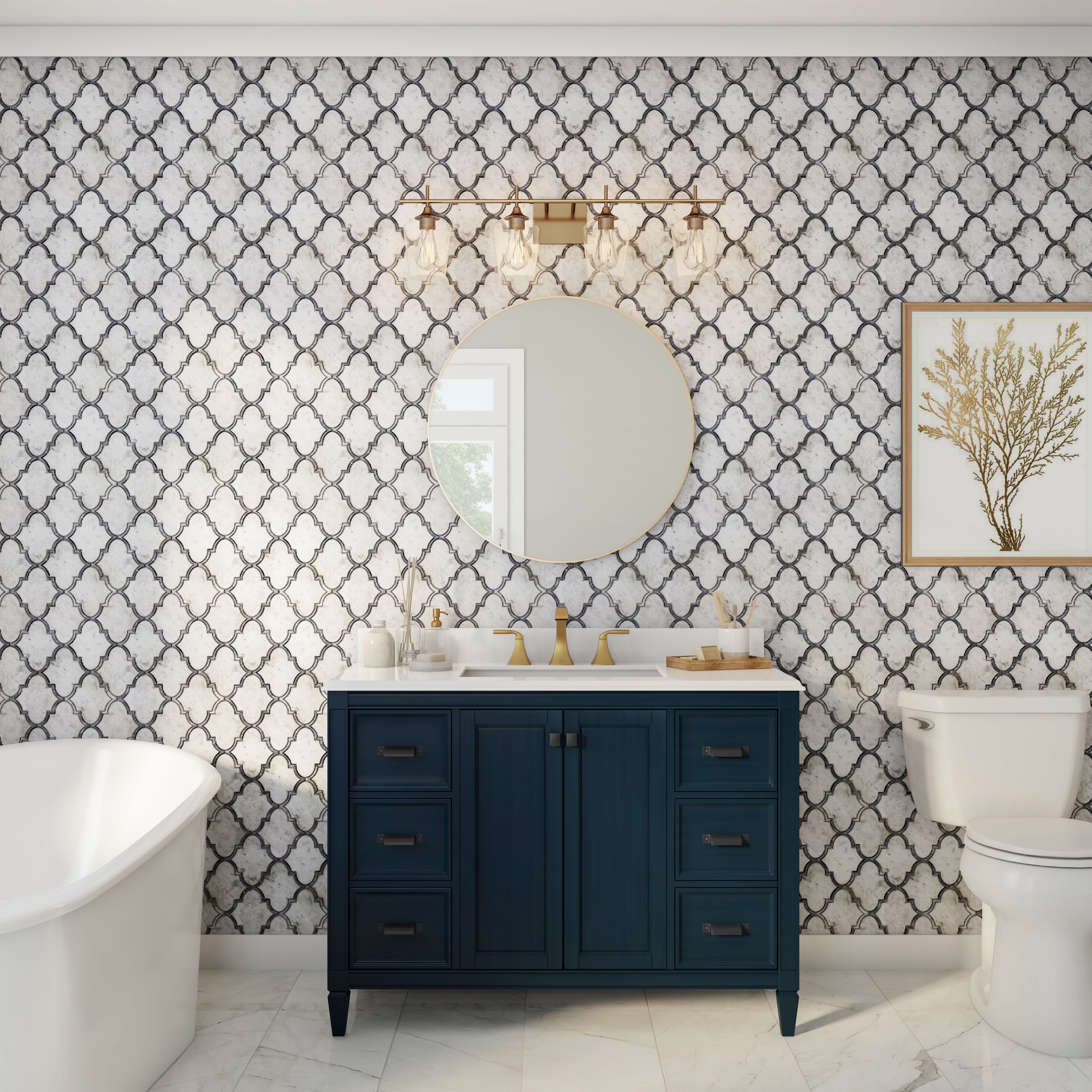 Whether You Re Looking For A Modern Bathroom Vanity Or Modern Bathroom Mirrors The Home Depot C Modern Bathroom Mirrors Latest Bathroom Trends Bathroom Trends