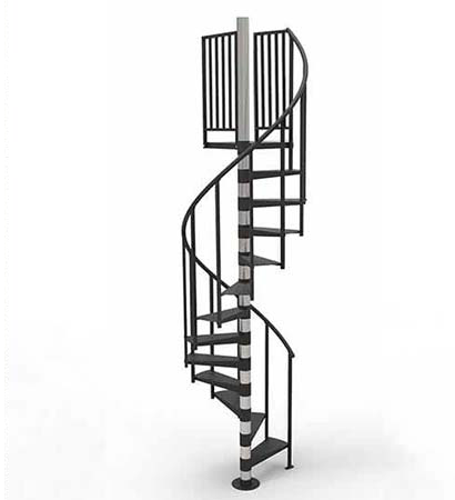 Best 8 Ft Prefab Spiral Stair Kit The Madison Diy Staircase 640 x 480