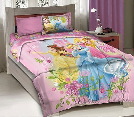 Full Size Disney Princess Bedding 4pc Comforter Set Comforter