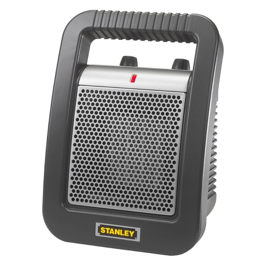 Stanley 11 25 In 1 500 Watt Electric Portable Ceramic Utility Heater Gray Portable Heater Electric Utility
