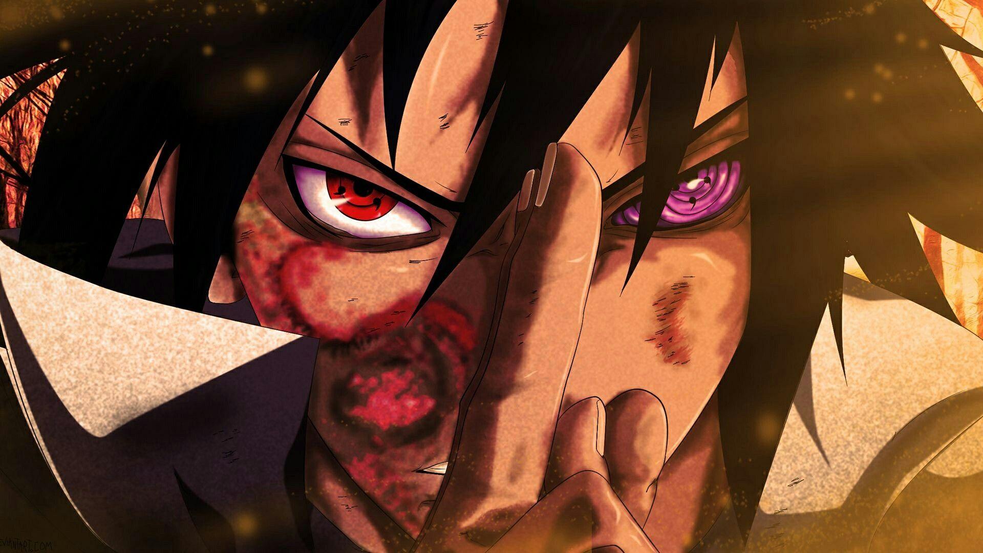 Sasuke Uchiha Rinnegan With Images Sasuke Eyes Naruto And