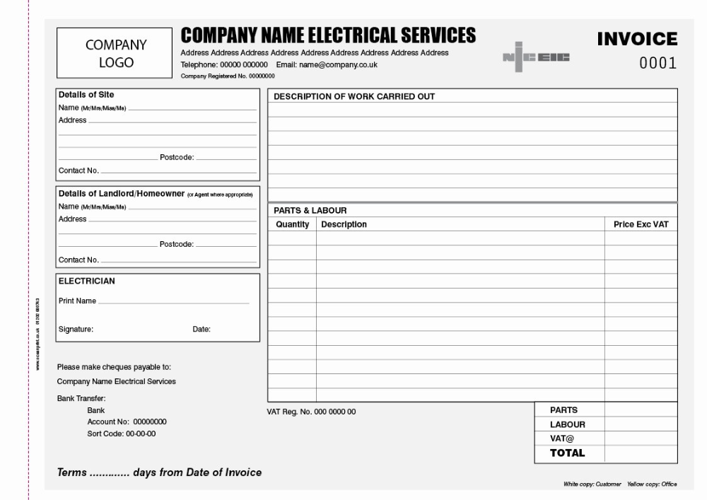 Electrical Invoice Template Free And Job Sheet Template For Within Work Invoice Template Free Download 1 Invoice Template Invoice Template Word Bill Template