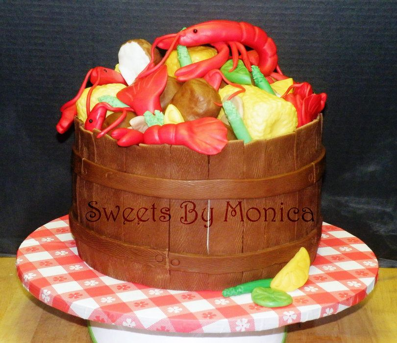 Crawfish Boil Birthday Cake Almond Cake Buttercream Cakes