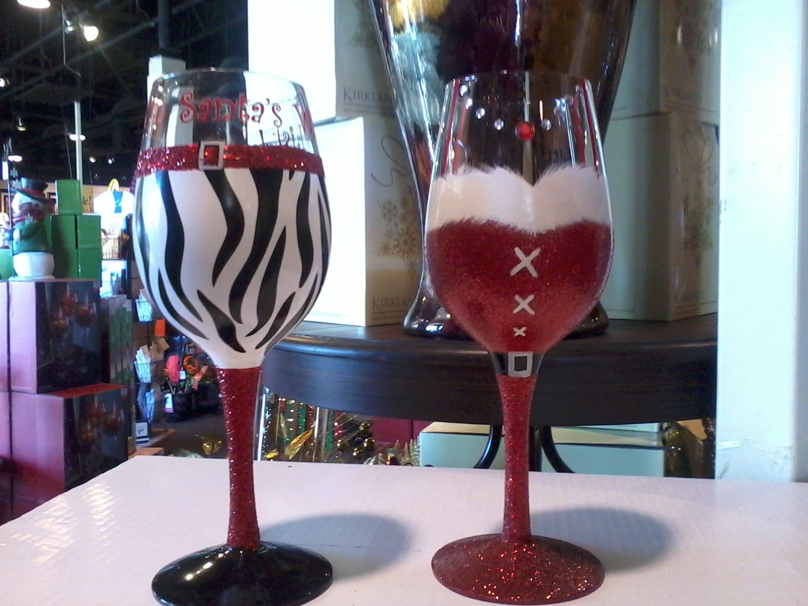 Cute Glassware Super Cute Christmas Wine Glasses Wine Glasses