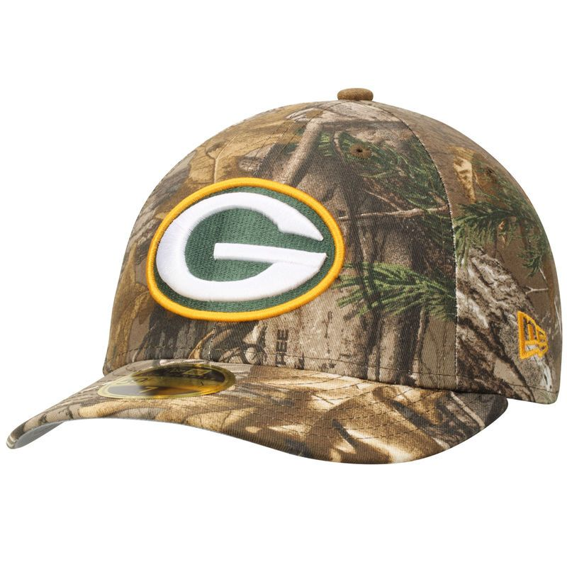 7d88adef73d Green Bay Packers New Era Low Profile 59FIFTY Hat - Realtree Camo ...