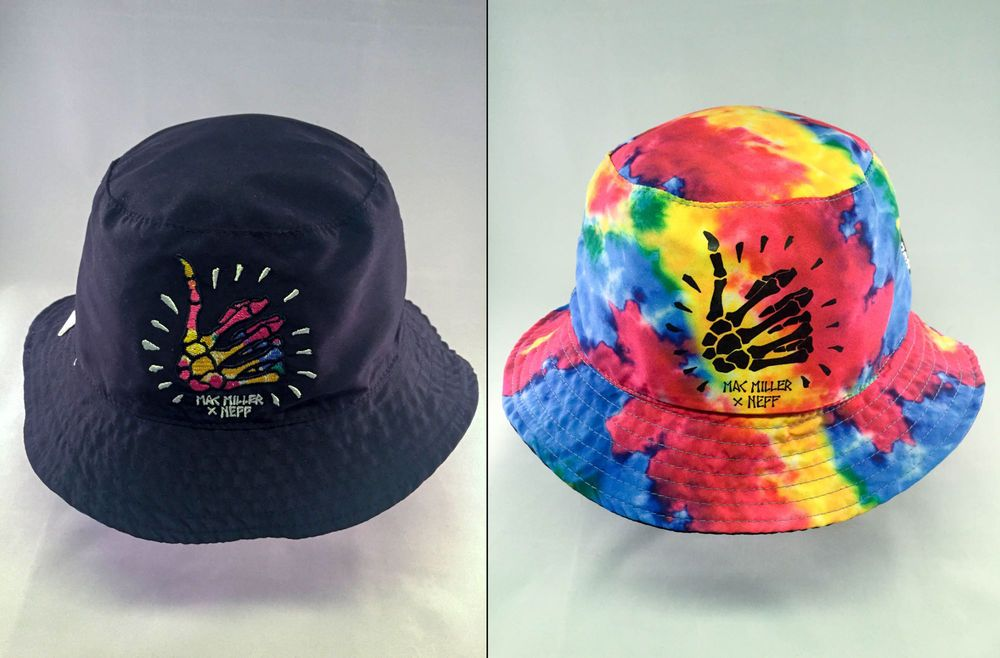 50e30a3a1a063 Mac Miller Reversible Tie Dye   Black Bucket Hat by Neff – One Size  Neff   BucketHat