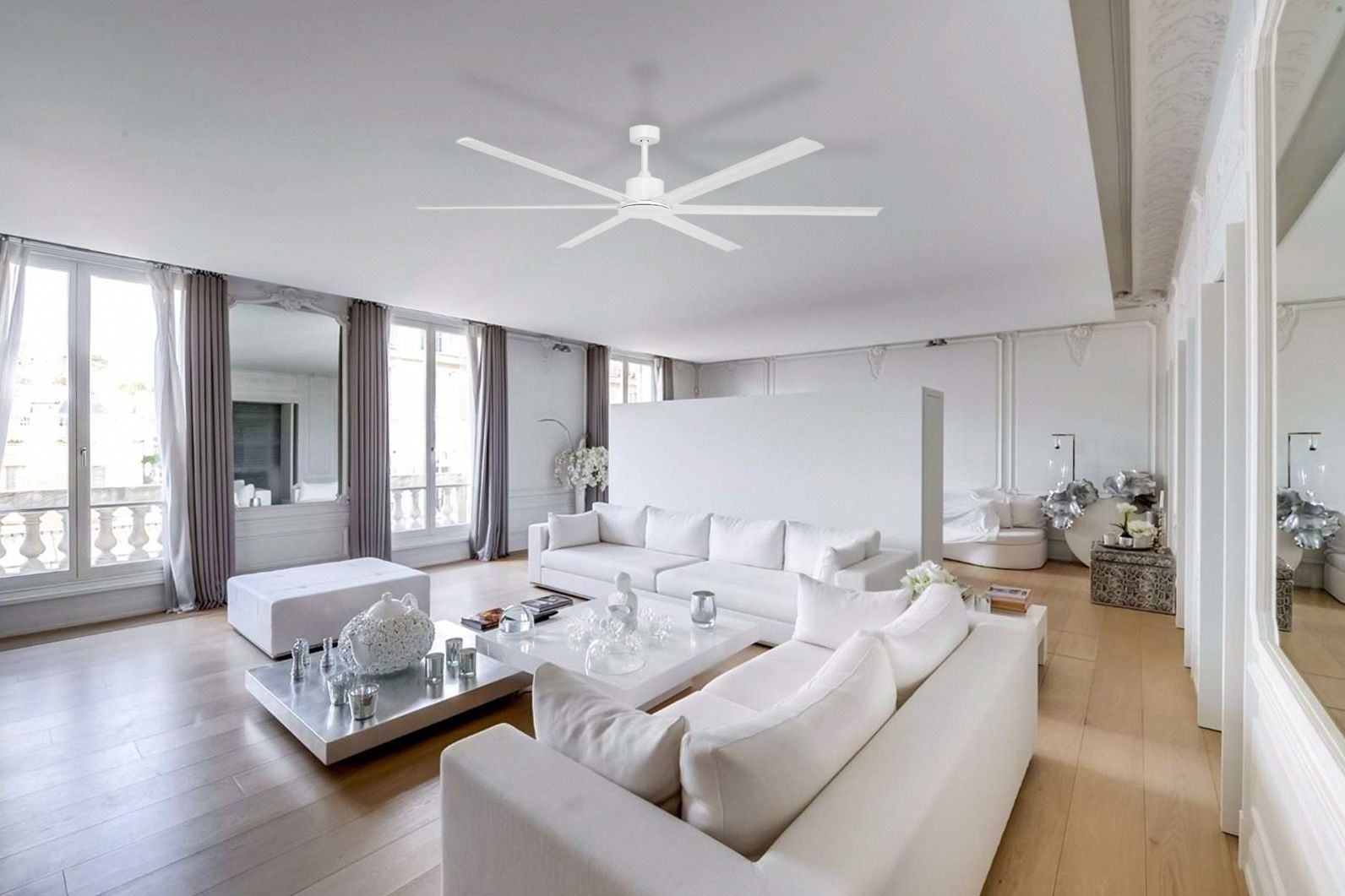 Hercules Ceiling Fan Dc Motor 84 With Remote White Lumera Living Luxury Homes Apartment Design Home