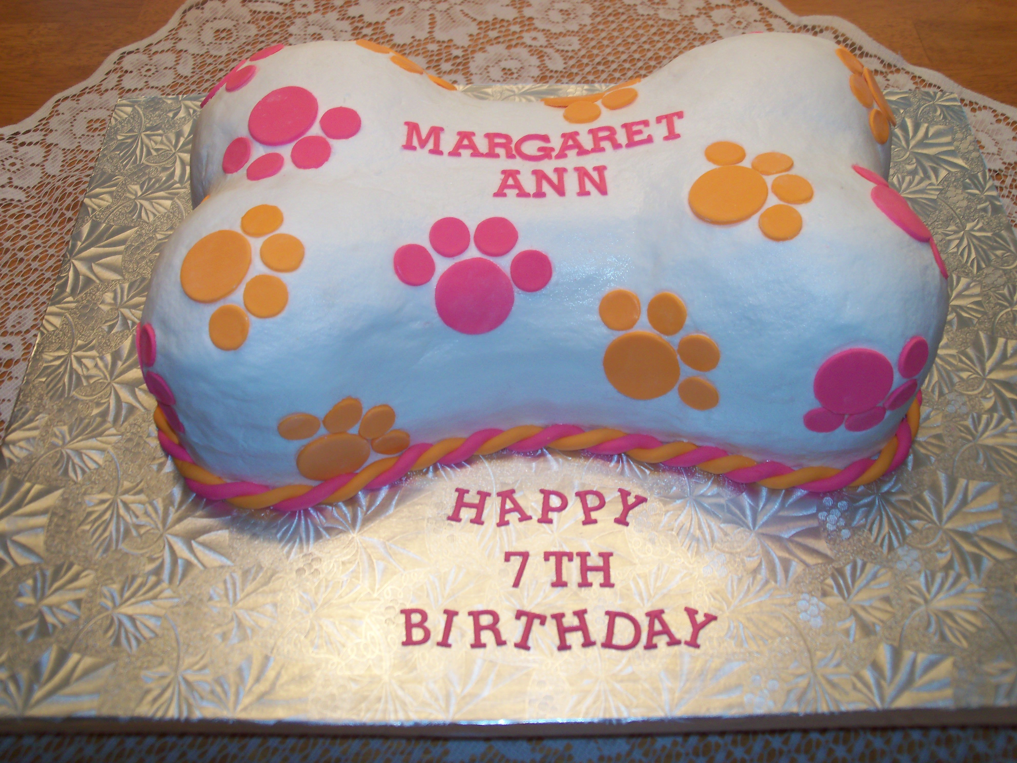 Margaret Ann Thought Her Dog Bone Cake Was Adorable With