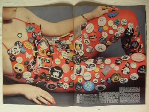 CREEM MAGAZINE 1980 ROCK AND ROLL PINBACK BUTTON PHOTO LAYOUT