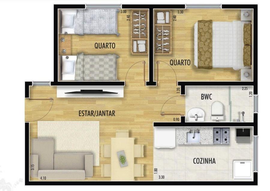 Plantas de casas com 30m apartamentos peque os for Casa minimalista de 40 metros cuadrados