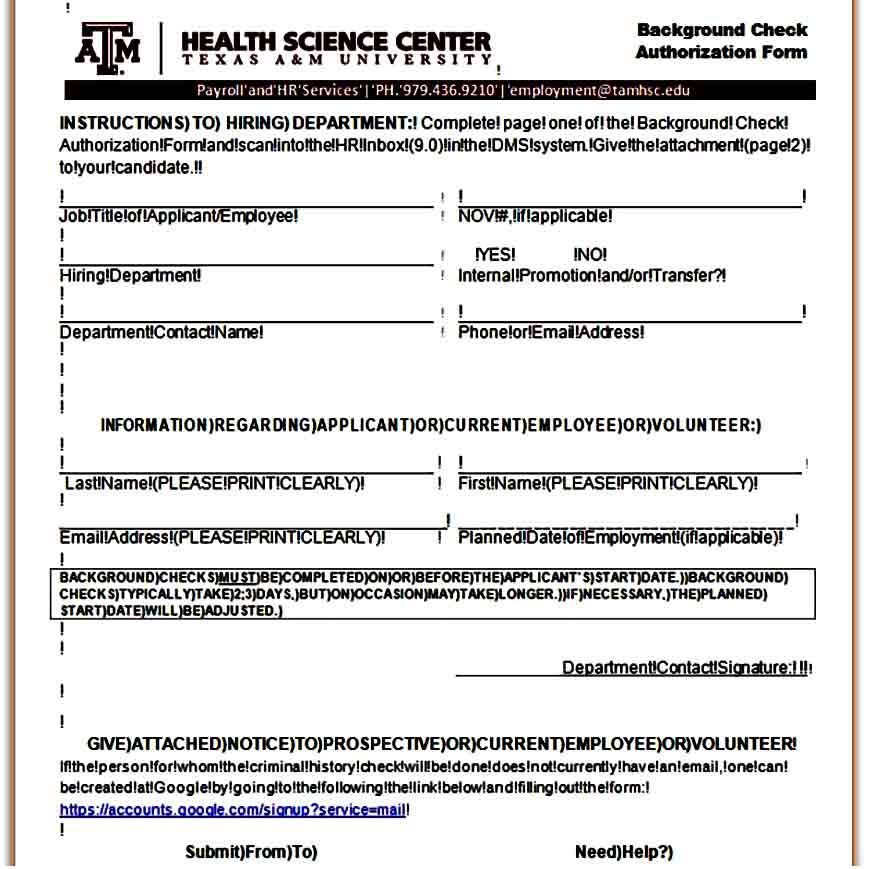 Template Background Check Authorization Form Background Check Form Business Template Background Check