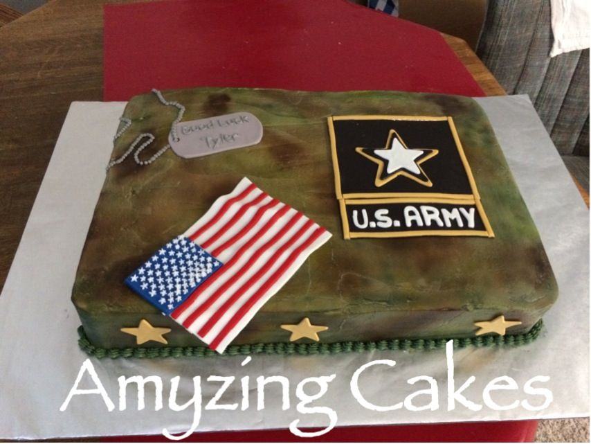 Going Away Cakes For My Nephew Who Is Joining The Army With