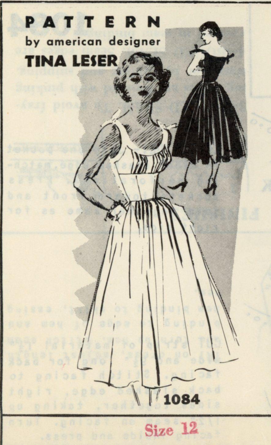 Spadea 1084 Misses 1950s Dress Pattern Stunning Peated