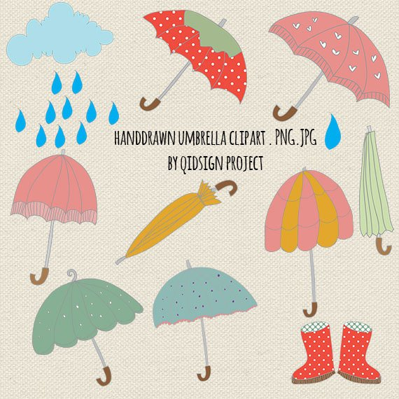 30+ Clipart Rainy Day Umbrella