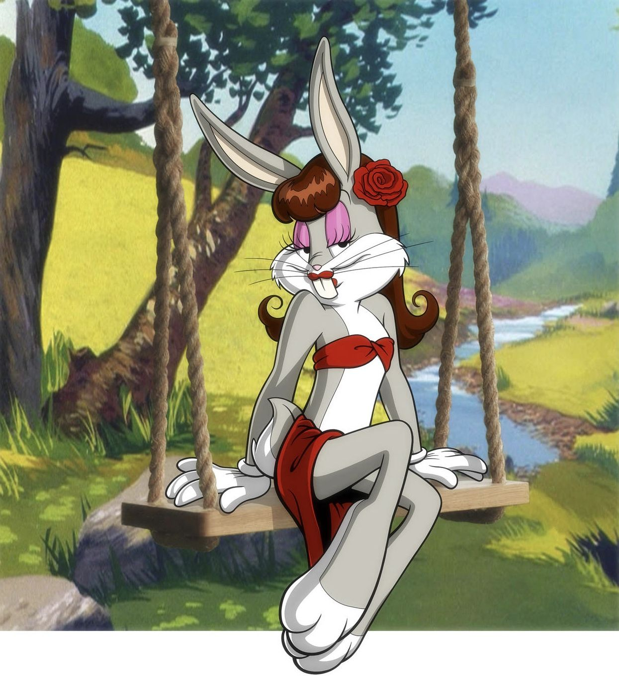 Bugs Bunny In Drag For A Change Looney Tunes Cartoons Bugs Bunny Disney Princess Cartoons