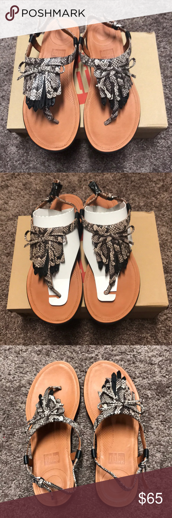 6d1bd55b92a32c NEW Fitflop Women s Tia Fringe Toe-Thong Sandal New with box 🍎Super  comfortable thong
