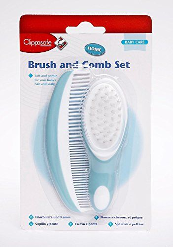 The #Clippasafe Brush & Comb Set is great for your baby's delicate hair and sensitive skin. It includes one non scratch comb and one brush with extra soft bristl...