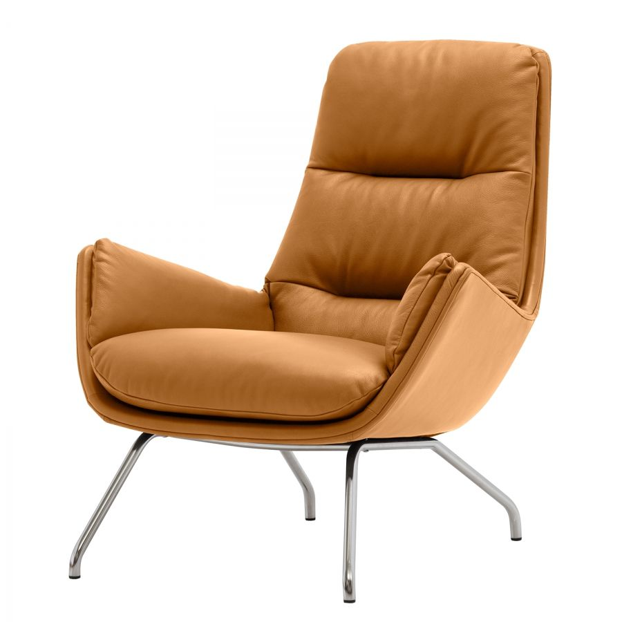 Designer Sessel Leder Chrom Sessel Garbo I Echtleder Einrichtung Sleeper Chair Armchair