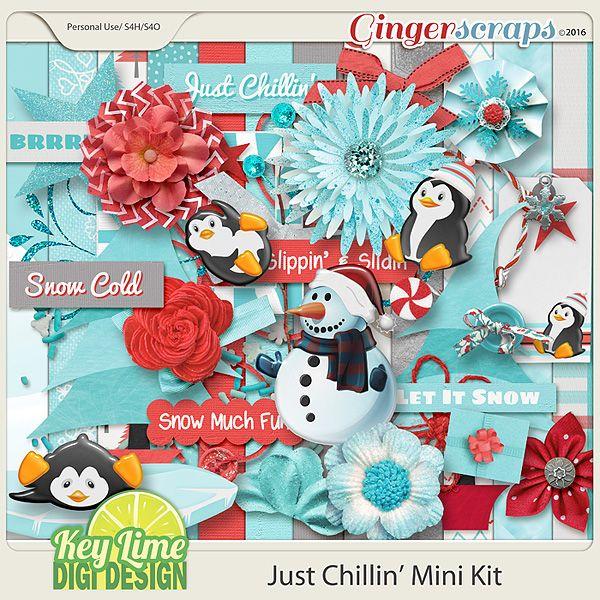 Just Chillin Mini Kit Snow much fun, Mini, Kit