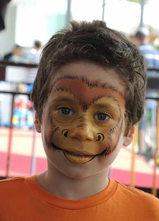Monkey face painting | Face Paint Animals | Pinterest ... - photo#24