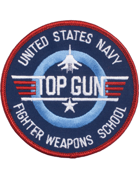 c28e19c08 N-505 United States Navy Fighter Weapons School Round Patch 3in small