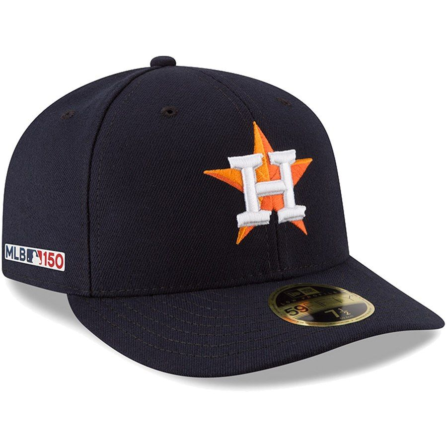 eaed079a504ca Men s Houston Astros New Era Navy Home MLB 150th Anniversary Authentic  Collection Low Profile 59FIFTY Fitted