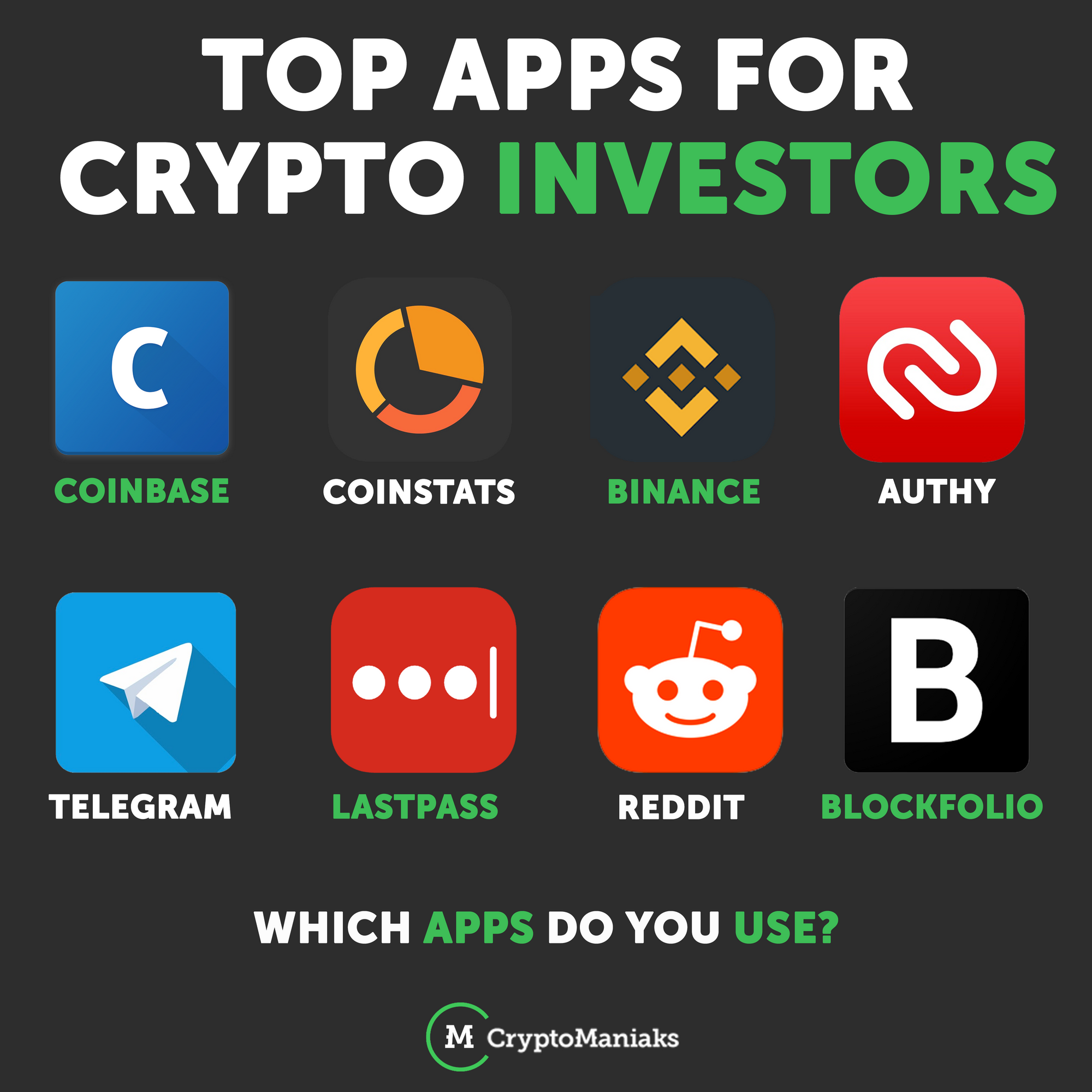 What Are Some Apps You Recommend Or Use I Use Coinstats Authy Telegram Lastpass And Reddit On A Daily Cryptocurrency Investing Blockchain Cryptocurrency