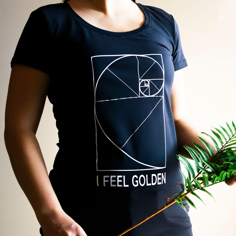 Womens T Shirt I Feel Golden T Shirts For Women Etsy In 2021 White Tshirt Women T Shirts For Women Womens Shirts