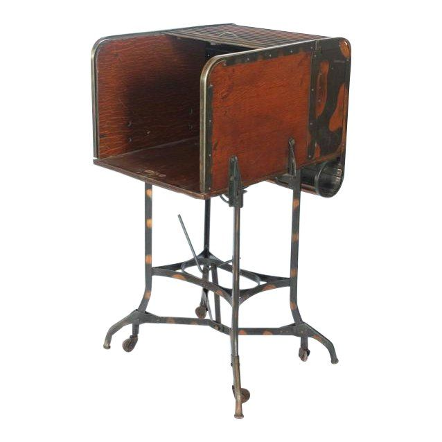 Astonishing Early 20Th C Vintage Toledo Industrial Roll Top Bar Cart In Short Links Chair Design For Home Short Linksinfo