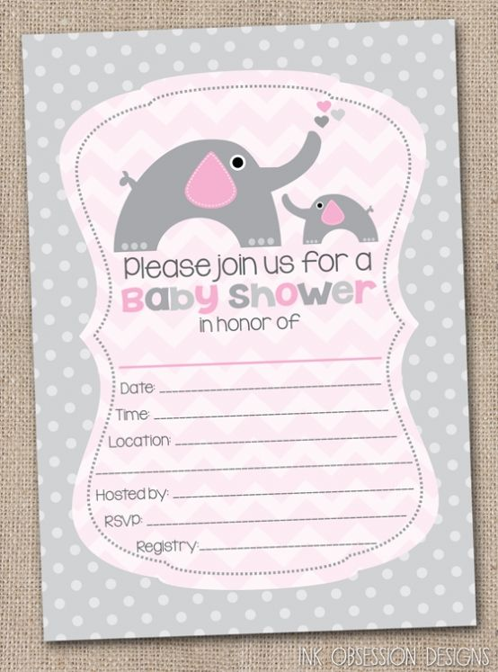 Baby Shower Blank Invitations Inspiring Invitation Free For Additional Suggestion 5020