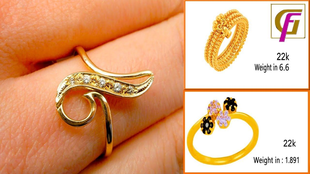 Latest Gold Ring Designs Women 2018 Gold Ring Designs With Weight Fing Latest Gold Ring Designs Gold Ring Designs Ring Designs