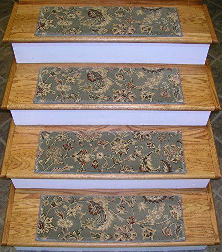 154194 Rug Depot Premium Carpet Stair Treads 26 X 8 Stair   Oriental Rug Stair Treads   Flooring   Amazon   Non Slip   Bullnose Stair   Kings Court