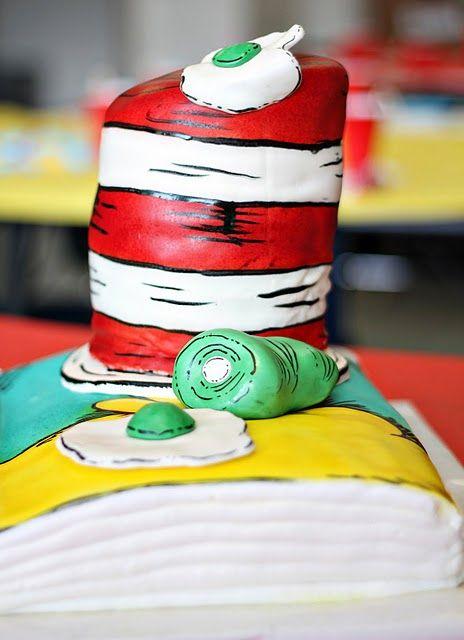 """Dr. Seuss Party Cake -- """"Sam I Am"""" Green Eggs And Ham ..."""