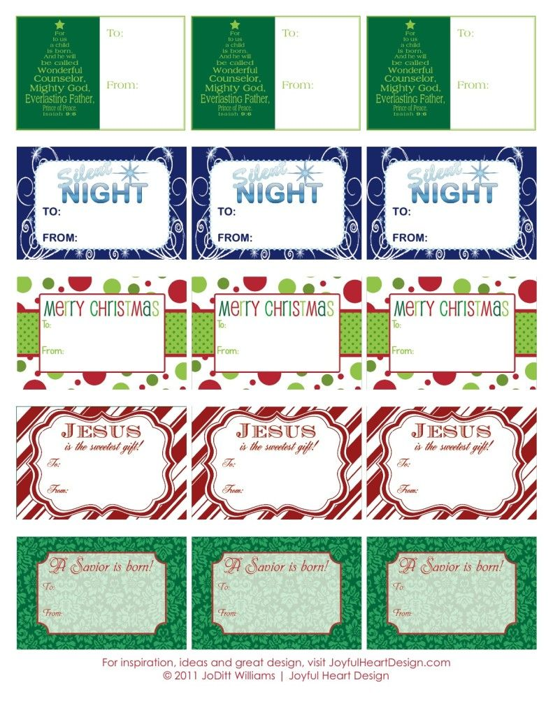 Chrismtas Gift Tags by JoDitt