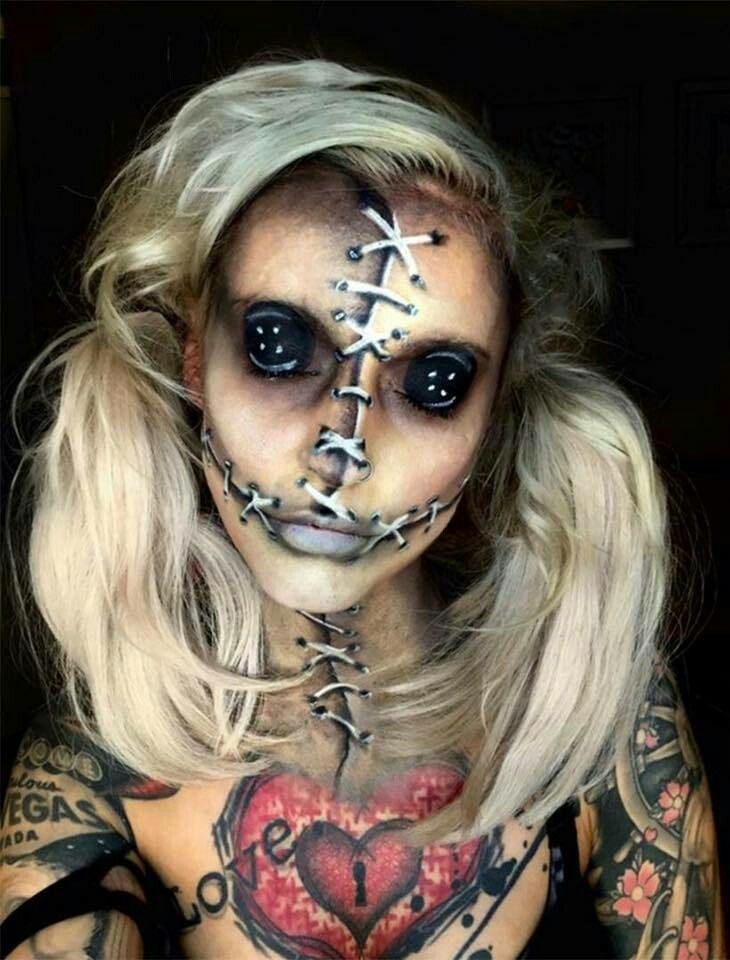 maquillage halloween tres flippant
