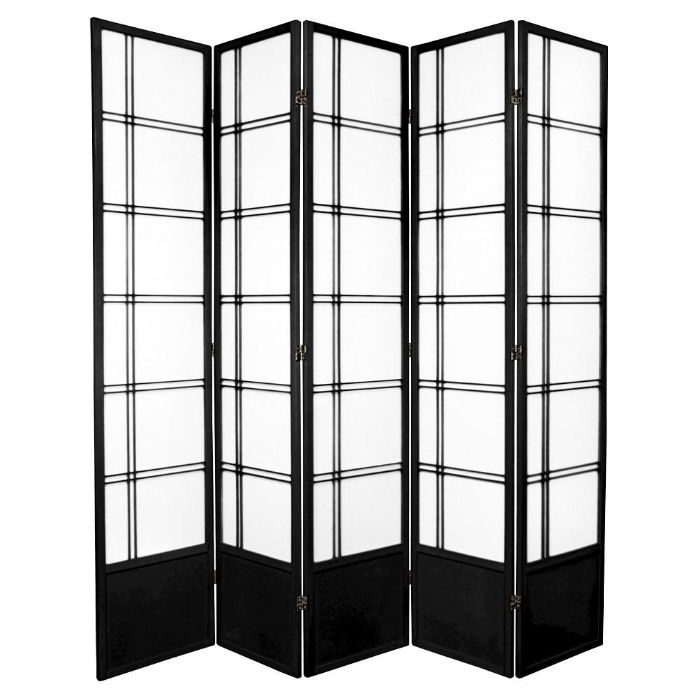 7 Ft Tall Double Cross Shoji Screen Black 5 Panels Shoji Room Divider Shoji Screen Room Divider Shoji Screen