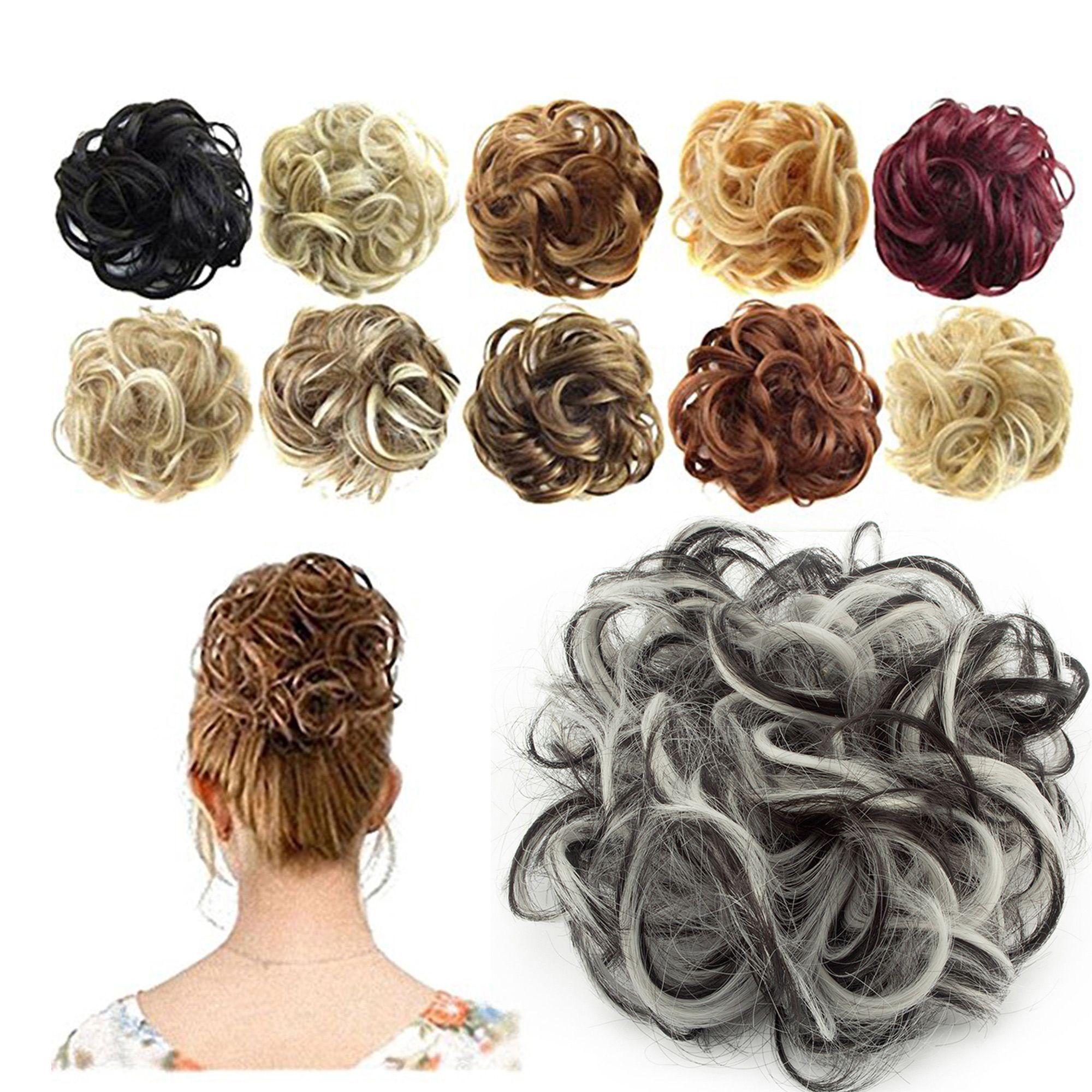 Florata Messy Hair Bun Updo Scrunchies Extension Ponytail Piece - Walmart.com -   13 hair Drawing updo ideas