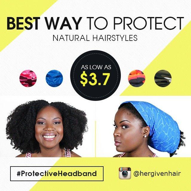 Protective Headband For Natural Hair Sleep Natural Hair Extensions