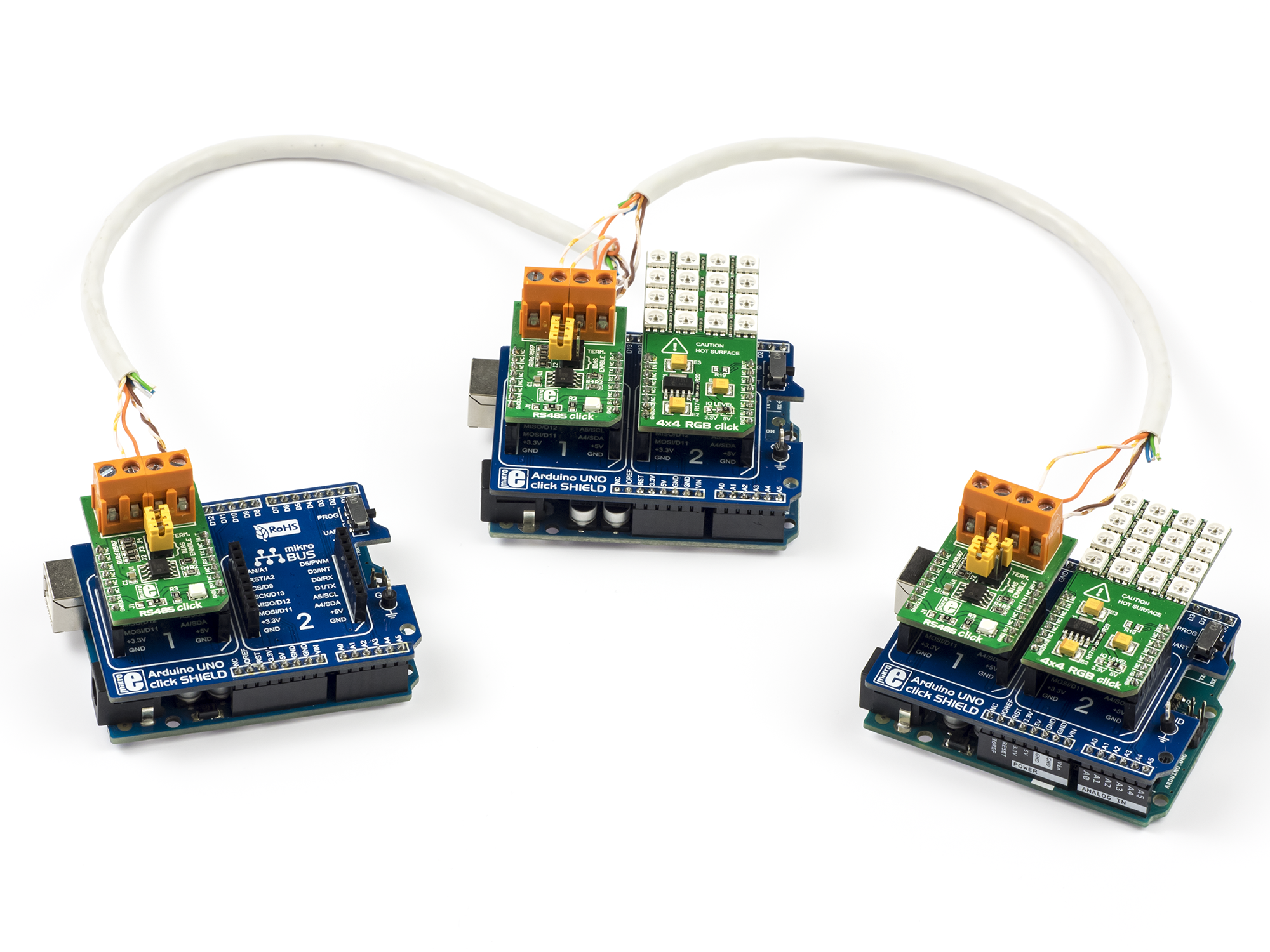 Arduino based dmx master and slave nodes made with