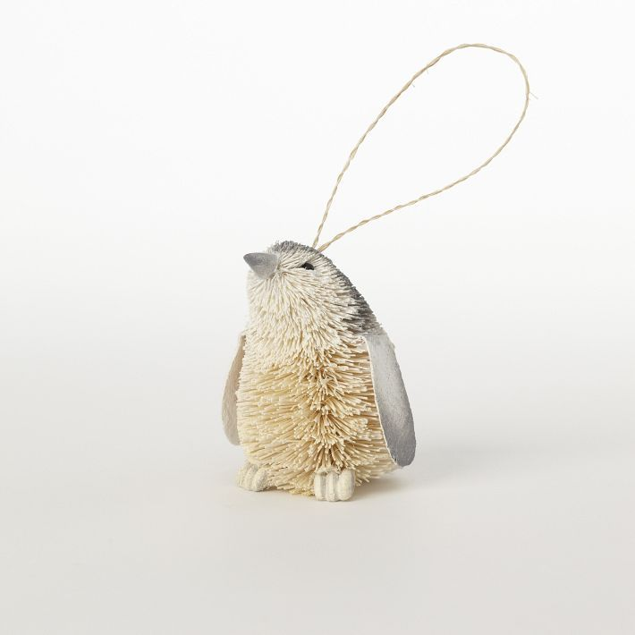 Bottle Brush Ornament - Penguin <3 I bought him!