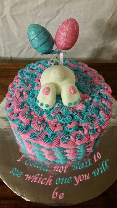 Easter gender reveal cake cakes by nita mimi pinterest easter gender reveal cake negle Gallery
