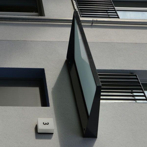 glasdach corbus mit pulverbeschichtetem rahmen und. Black Bedroom Furniture Sets. Home Design Ideas