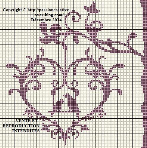 R sultat de recherche d 39 images pour coussin de mariage au - Grille point de croix lettre ...