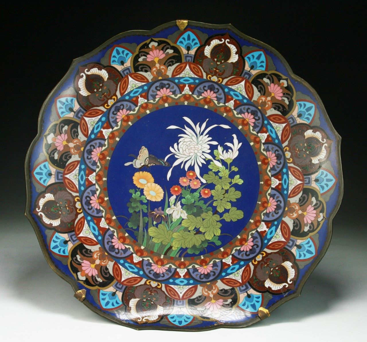 A Big Japanese Antique Silver Cloisonne Plate of late 19th Century✖️More Pins Like & A Big Japanese Antique Silver Cloisonne Plate: of late 19th Century ...